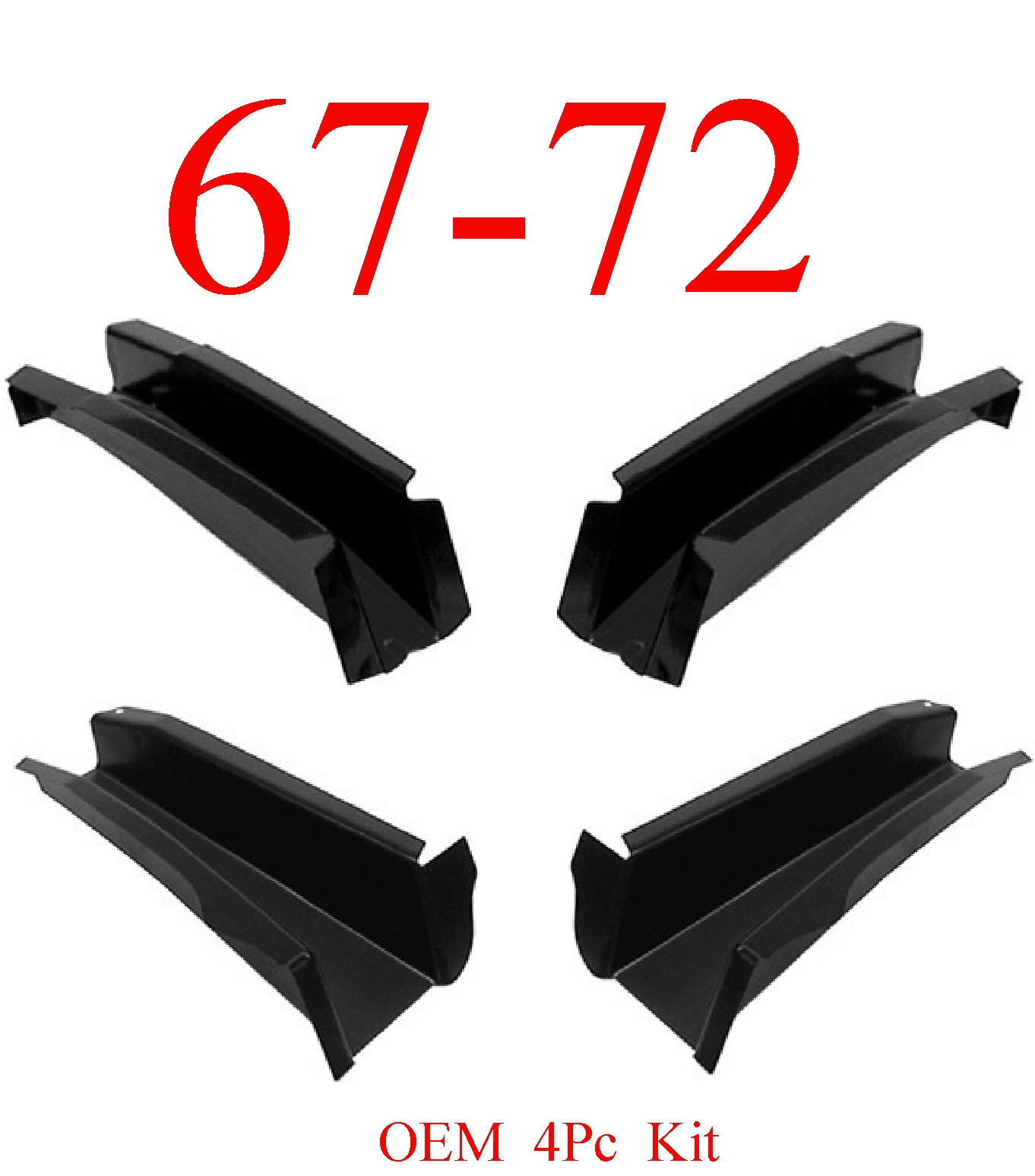 67-72 Chevy 4Pc OEM Cab Floor Support Kit